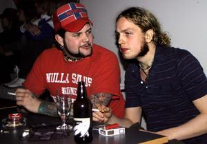 År 2003. Henrik Pettersson och Hans Andersson på Rocktoberfesten. Foto: Emily Axelsson