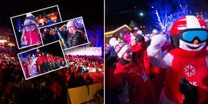 Det var bra drag på Åre torg när VM invigdes under måndagskvällen.