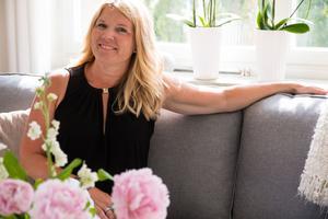 Karin Stålhammar älskar färska blommor – framförallt pioner.