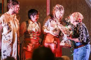 Hampus Norén kompade föreställningen och har varit med och skrivit musiken, Sara Parkman har skrivit text och musik och Samantha Ohlanders har skrivit musik. Gunilla Hedin är ordförande i nygamla riksteaterföreningen i Lillhärdalsom fick en flygande start, knökfullt i första föreställningen.