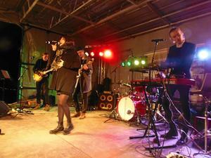 Musik. Johanna Hasselgren med band uppträder i Kumla sjöpark. Foto: Privat/Tomas Borg