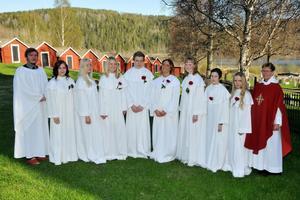 Från vänster: Markus Östlund, Jenny Sjödin, Cecilia Olsson, Jonna Edström, Rasmus Danielsson, Malin Vigren, Maria Mattsson, Levi Svensson, Micaela Näslund, Janet Eriksson.