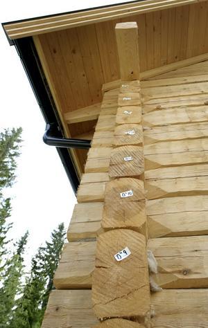 Timmerhuset har byggts upp två gånger. Först utanför Nora där stockarna formades och sedan i Siggeboda där huset skulle stå permanent. Märkningen av stockarna inför flytten sitter kvar eftersom huset ännu inte rödfärgats.