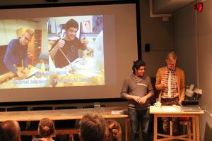 Skulptörerna Thamar Al Zaidi och Gabriel Jonsson.