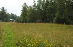 Försenas. Området Lars Anders täppa med byggande av villor i skogsområdet till höger på bilden försenas minst ett år sedan kommunfullmäktiges beslut om att anta detaljplanen för området har överklagats av en privatperson. Foto:Roland Berg