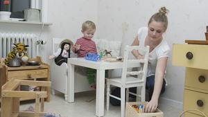 Småbarnsföräldern Evelyn Holmudden är positiv till gratis läkemedel för barn under 18 år.