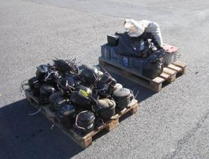 Kompressorer och batterier togs i beslag.
