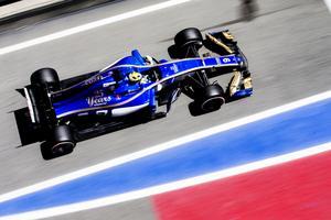 Marcus Ericsson på väg mot sin tangerat bästa placering sedan poängen på Monza den 6 september 2015.
