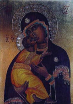 Ikon av Jelena Kimsdotter Kuzmina.