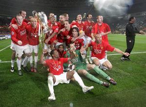 Manchester United vann sin trejde Champions League/Europacup-titel i finalen mot Chelsea 2008.