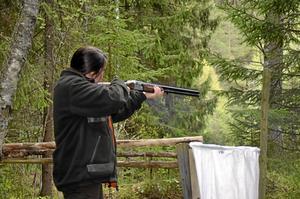 Fjärde gången. Carina Appel från Viby Skyttegille, gick sin fjärde jaktstig.