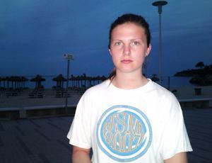 Stina Engberg,16, längtar hem från Mallorca.