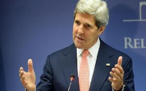 USA:s utrikesminister John Kerry uttalade sig efter gasattacken i Syrien. Foto: Evaristo Sa