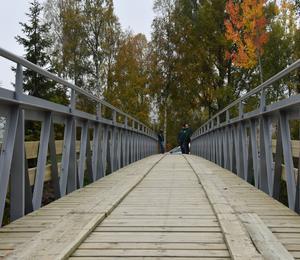 Stålkonstruktionen är rester från varvsbron i Husum.