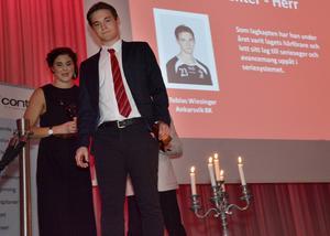 Tobias Wiesinger, Ankarsvik och Frida Eriksson, Sundsvalls IBF, blev Årets Centrar