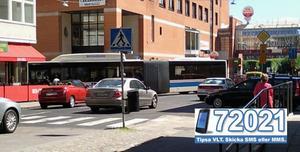 Trafikstockning på Kopparbergsvägen.