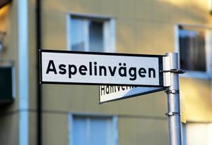 Minne. Aspelinvägen har fått sitt namn efter Fagerstas framgångsrike disponent.