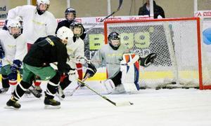 Det var hårda skott i nät och plexiglas under Sommarhockeyns intensiva träning på Z-hallens is.