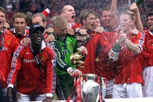 Manchester United säkrade trippeln 1999 genom en makalös vändning mot Bayern München i Champions League-finalen.