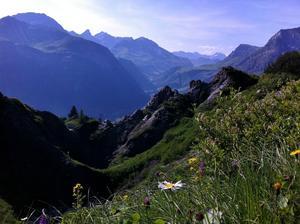 Från en dagsvandring i Alperna.