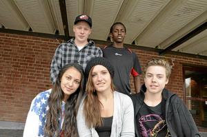 Hemma igen.Jonathan Andersson, Mohammed Hussein, Ljuvica Topic, Dalila Redzepagic och Johannes Waern, tillhör elevrådet på Vialundsskolan och åkte en vecka i mars till Sydafrika.
