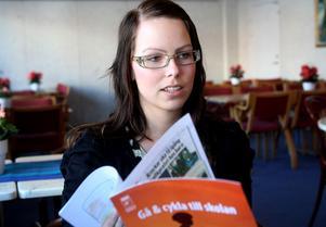 Lena Wigren är projektledare för X-MaTs. Hon deltog i onsdagens temadag om barn och trafik.