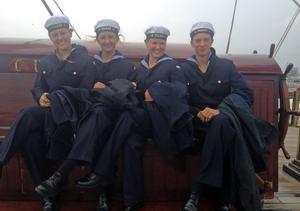 Malin Vallin, Kramfors, seglade i besättningen på skonertfartyget HMS Falken.