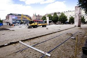GÄVLEBORNAS VARDAGSRUM. Totalt 4 325 kvadratmeter av Stortorget ska beläggas med granithällar från Bohuslän. Arkitekterna vill skapa känslan av en matta genom att blanda olika storlekar och olika sorters granit.