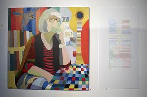 I varje målning har Lennart Samor utgått från Jörgen Sparfs intervju och tagit med de föremål som är viktiga för personernas liv och berättelse.