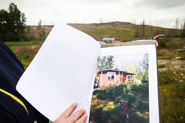 Stugan innan den brann ner, farfar Erich hade ägnat många år åt att bygga olika uthus och utbyggnader.