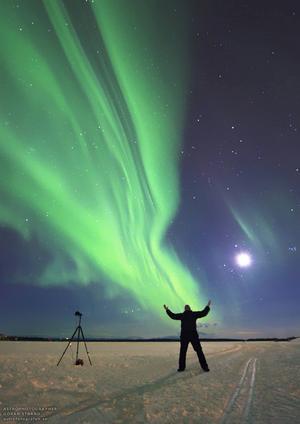 Göran Strand dokumenterade norrskenet i mars förra året.