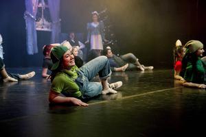 Flera grupper med barn och ungdomar deltog i showen.