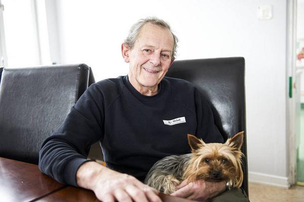 Till jul fick Kjell ett julkort där han gratulerades till den nya vaktmästartjänsten i skolan i Tännäs. Nu bor han och knähunden Qikki i vaktmästarbostaden och sköter om och vaktar hela byggnaden i Gillbergs fjällstuga.