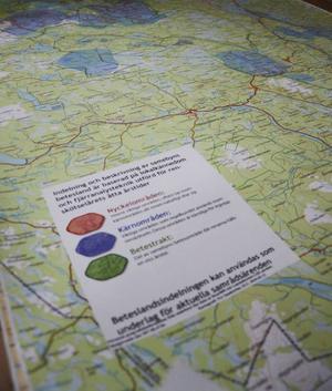 I det första utkastet av renbruksplanen är områden klassificerade efter vilken betydelse den har för rennäringen.
