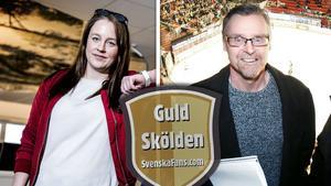 Elena Lövholm och Stisse Åberg är nominerade som årets lokalsportjournalist.