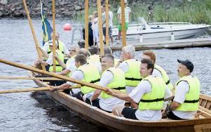 Smedjebacksbåten stod som segrare i kyrkbåtsrodden. Foto: Carl Lindblad