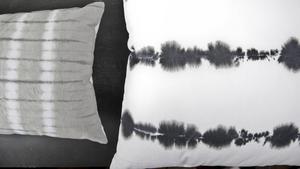 Grå batikmönstrade kuddar från Lagerhaus, 139 respektive 169 kronor.