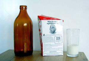 Glasflaska eller tetra spelar ingen roll – länge leve mjölken.Foto: Gösta Olsson