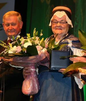 Anna Österholm fick som en av fem veteraner motta Bramstorpplaketten vid årets partistämma.
