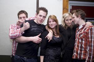 Konrad Johan, Micke, Maria, Evelina och Mattias.
