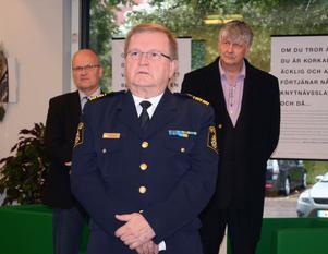 Länspolismästaren Sten-Olov Hellberg hade kommit över den värsta besvikelsen över det uteblivna polishuset i Falun och gladdes istället åt att den gemensamma receptionen för Hedemora kommun och polisen, trots visst motstånd från
