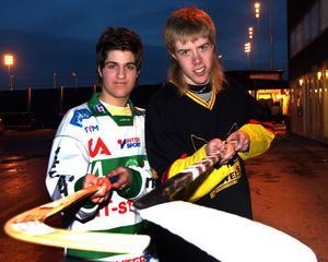år 2005. Tobias Holmberg, VSK, och Oskar Lundberg, VIK. Båda lovande talanger i sina respektive sporter.