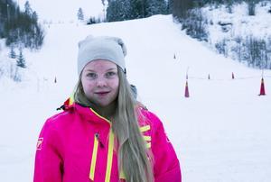 16-åriga Ida Olsson körde en Lynx och vann damklassen i tekniktävlingen.