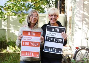 Karin Ekberg och Viveka Höglund vill att så många som möjligt ska vara med och springa för klimatet, inte bara de som anmäler sig till stafetten.