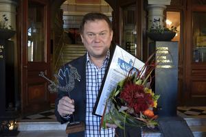 Jonas Berggren belönades för sina tio år som vd för SSG i Sundsvall.