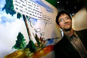 Den grå vardagen är en guldgruva för Jan Berglin. Skämttecknaren som tillsammans med frun Maria är föräldrar till serien Berlins.