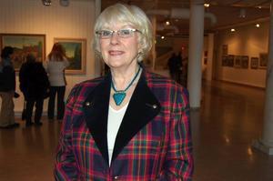 Dotter. En av Akke Hugh Malmeströms döttrar som var med under vernissagen under lördagen, Gunilla Schwarcz.