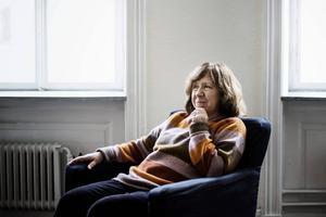 Vitryska författaren Svetlana Aleksijevitj, årets Nobelpristagare i litteratur.