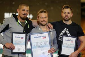Andreas Hennerberg, Erik Andersson och Jonas Härnborg var finalister i herrarnas master +45.