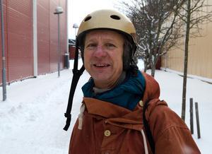 Kent Vikström, i sin guldiga hjälm.